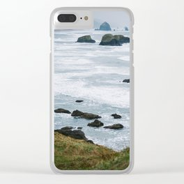 Haystack Rock from Ecola 1 Clear iPhone Case