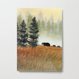 Roaming Bears In West Virginia Metal Print