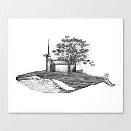 Ballena isla / Whale Island Canvas Print