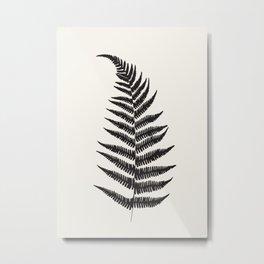 Minimal Fern Leaf Metal Print