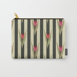 Spring flowers. Tulips are red. Retro. Carry-All Pouch