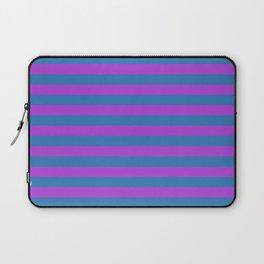 Blue and Purple Stripes Laptop Sleeve
