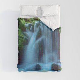 Waterfall in the forest Comforters