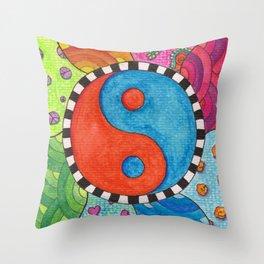 Yin and Yang - Spring Days Throw Pillow