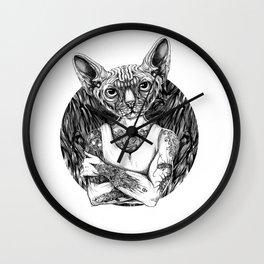 Sphynx Black Wall Clock