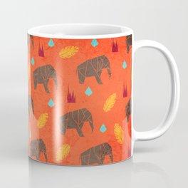 Elephant Origami Coffee Mug