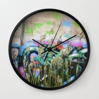 cycle Wall Clocks featuring Cycle by Calle de Rosa
