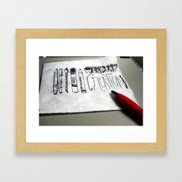 Weapons of Mass Creation Framed Art Print