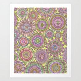 Millefiori Karma-Fairytale colorway Art Print