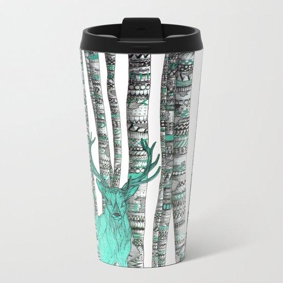 Turquoise Stag Metal Travel Mug