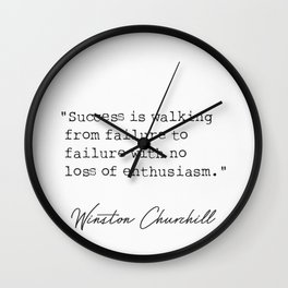 Winston Churchill awesome quotes Wall Clock