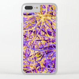 Purple and Gold Celebration Clear iPhone Case