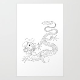 "Chineese ""Lung"" Dragon Art Print"
