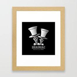 Brainiac (White) Framed Art Print