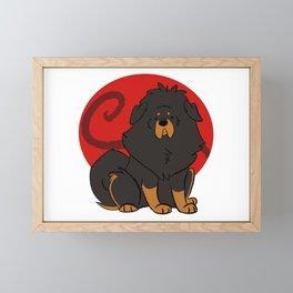Black and Tan Tibetan Mastiff Framed Mini Art Print