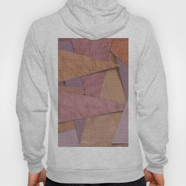 pink triangle collage grid Hoody