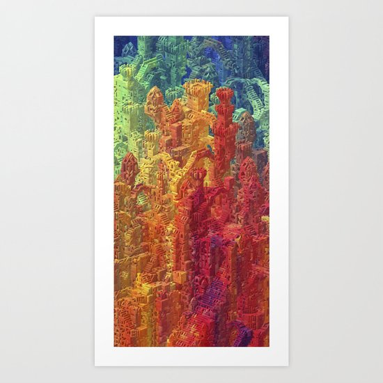Castle Block Art Print