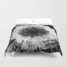 Black and White Tie Dye // Painted // Multi Media Duvet Cover