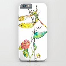 Dragonfly and Flowers iPhone 6s Slim Case