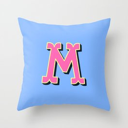 M Initial Letter Throw Pillow