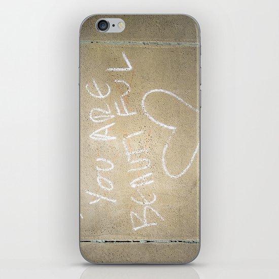 Smile, You Are Beautiful! iPhone & iPod Skin