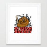 hockey Framed Art Prints featuring HOCKEY by frail