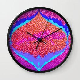 RED MAGENTA IZNIKY Wall Clock