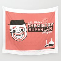 chemistry Wall Tapestries featuring Walter White's Chemistry Lab Playset by Ryder Doty