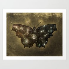 Cosmic Butterfly  Art Print