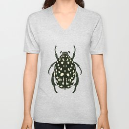 green beetle insect Unisex V-Neck