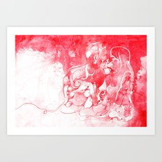 Love Is Red Art Print
