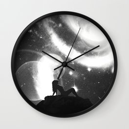 Space Noir Wall Clock