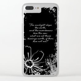 Percy Bysshe Shelley - Love's Philosophy Clear iPhone Case