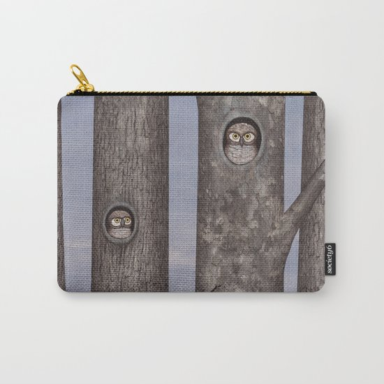 owls in trees Carry-All Pouch