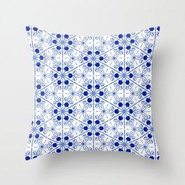 Delft Pattern 2 Throw Pillow