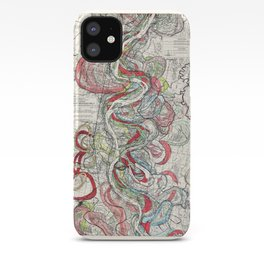 Beautiful Vintage Map of the Mississippi River iPhone Case