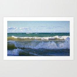 Huron Waves Art Print