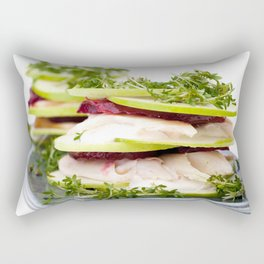 Apple and trout appetizer Rectangular Pillow