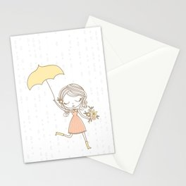 April Showers bring May Flowers Stationery Cards
