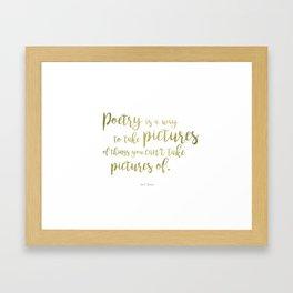 """""""Poetry"""" Ornate Framed Art Print"""