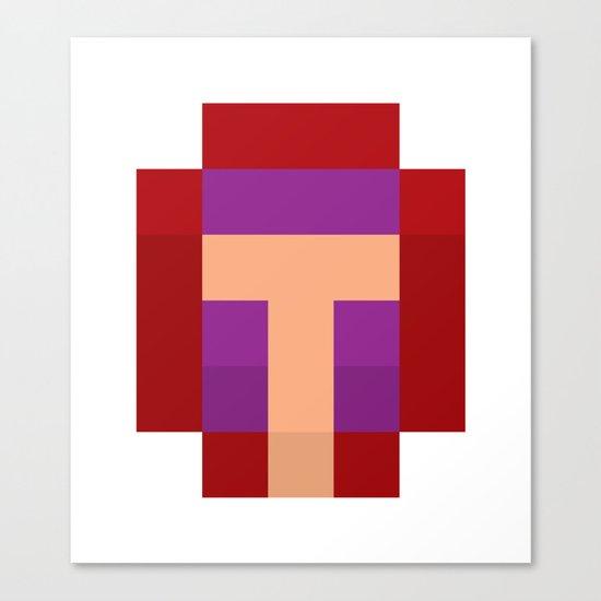 hero pixel purple red Canvas Print