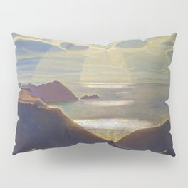 Rays of Sun off the Sea Cliffs Sturrall Donegal, Ireland by Rockwell Kent Pillow Sham