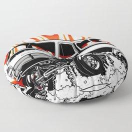 1969 GASSER VAN - BLACK Floor Pillow