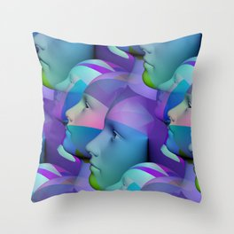 feeling blue together Throw Pillow
