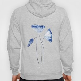 indigo poppy watercolor Hoody