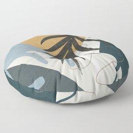 Abstract Tropical Art II Floor Pillow