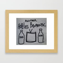 Hopeless Bromantic Framed Art Print