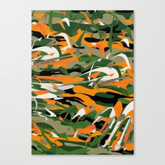Abstract Camouflage Canvas Print