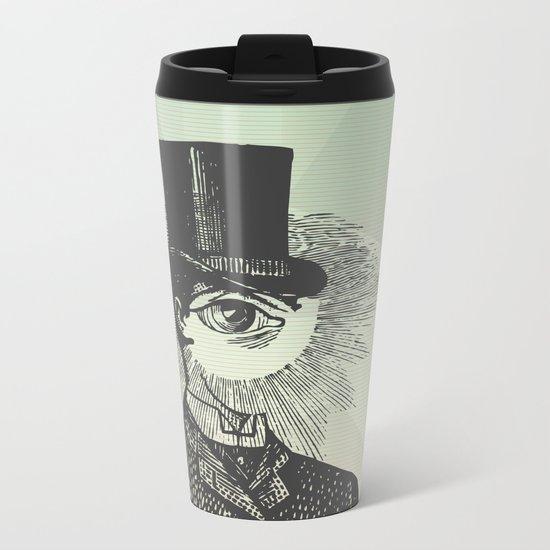 Eyeliner Metal Travel Mug