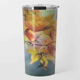 Yellow Acer Leaves Travel Mug
